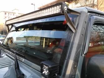 kit barra a led e staffa jeep jk
