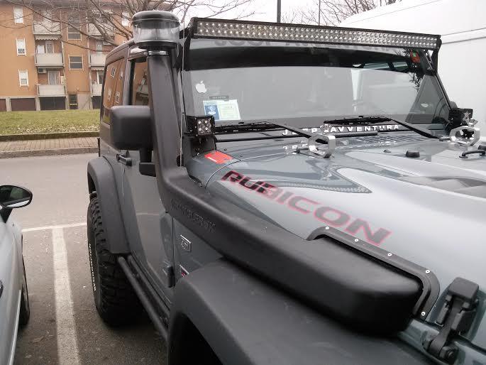 Snorkel jeep wrangler jk power garage preparazione jeep jk for Sostituzione filtro aria cabina jeep wrangler 2015
