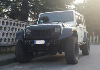 paraurti anteriore scomponibile jeep jk