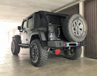 paraurti posteriore base jeep wrangler jk omologabile