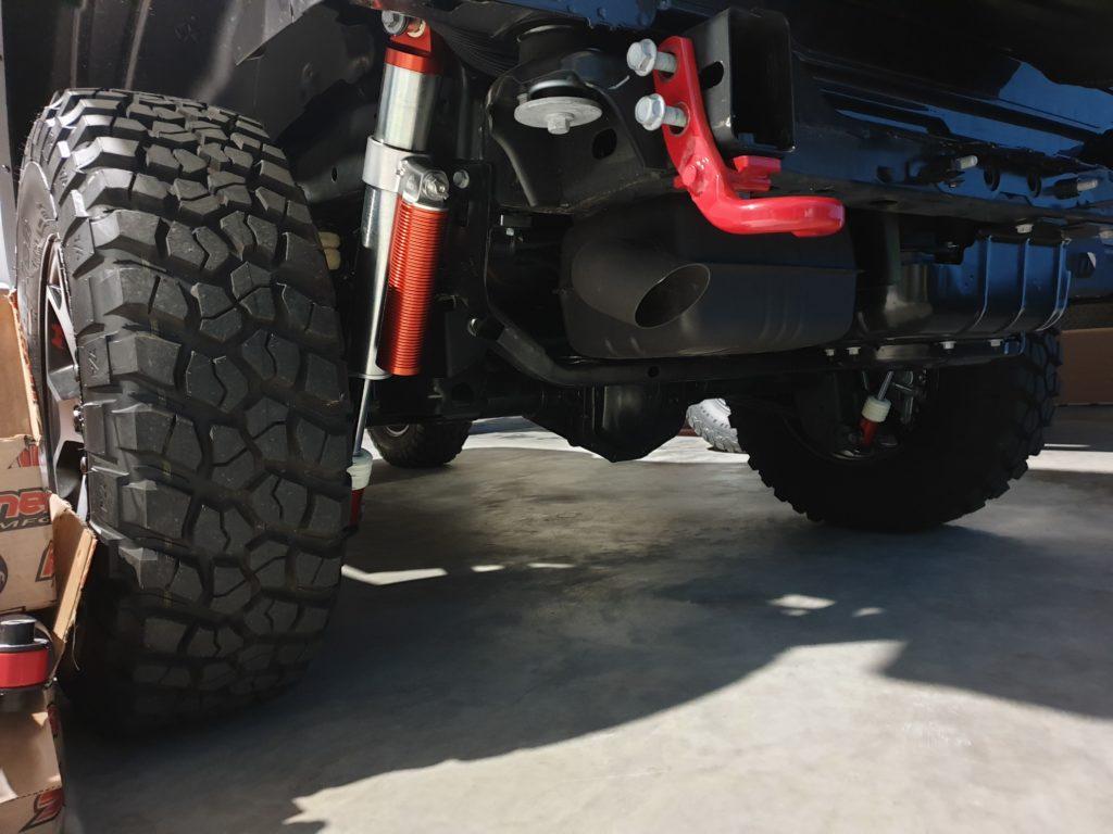 ammortizzatori regolabili jeep wrangler jL posteriori
