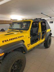 porte tubolari jeep wrangler Jl installate
