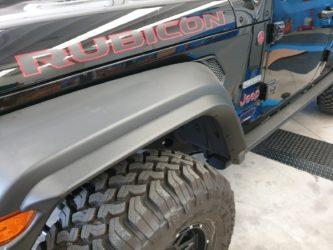 allargamento parafanghi jeep wrangler JL anteriori