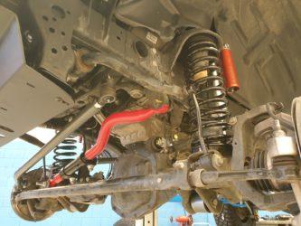 barra panhard anteriore wrangler JL SteerSmarts installata